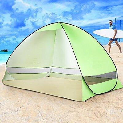 Portable 1 Person Beach Shelter Color: Green