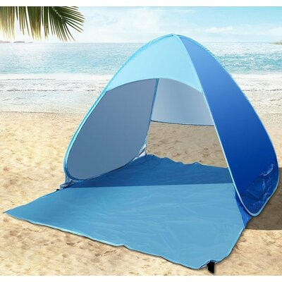 Portable 1 Person Beach Shelter Color: Blue