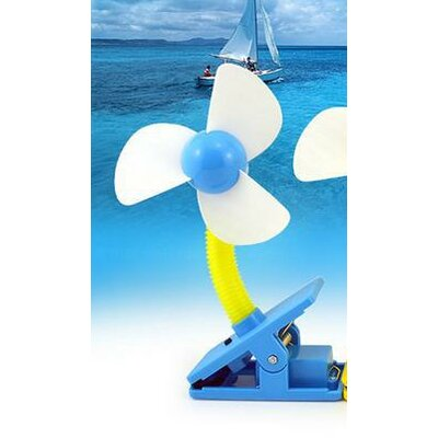 Mini Portable USB Rechargeable Battery Clip Fan E-2981 Blue