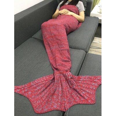 Mitscher Fish Tail Cotton Throw Blanket Color: Pink