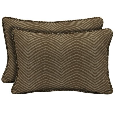Zebra Outdoor Lumbar Pillow Size: 15 H x 22 W x 6 D