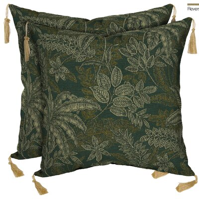 Palmetto Outdoor Throw Pillow Color: Jungle Green