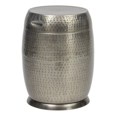 Madras Drum End Table Color: Silver
