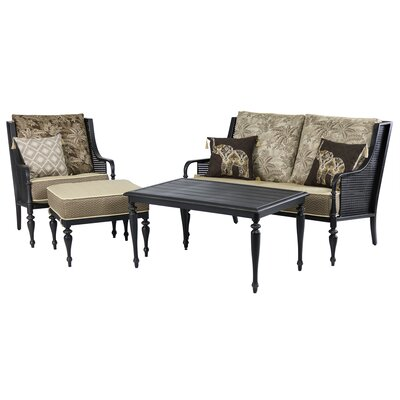 Sherborne 4 Piece Conversation Seating Group with Cushion