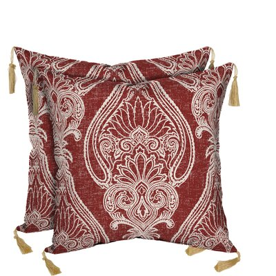 Venice Delhi Paisley Outdoor Throw Pillow