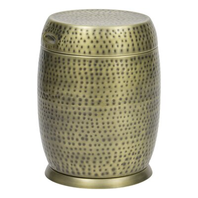 Madras Drum End Table Color: Gold