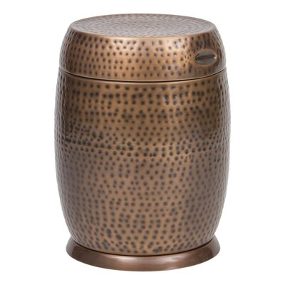 Madras Drum End Table Color: Antique Copper