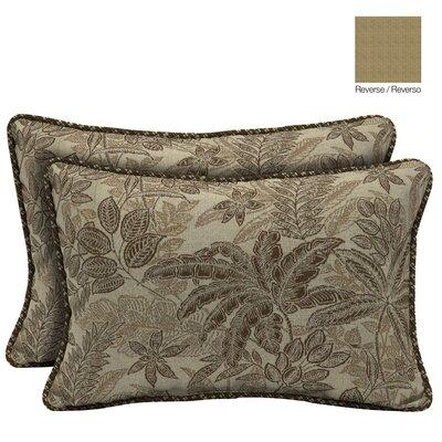 Palmetto Reversible Outdoor Throw Pillow Color: Mocha
