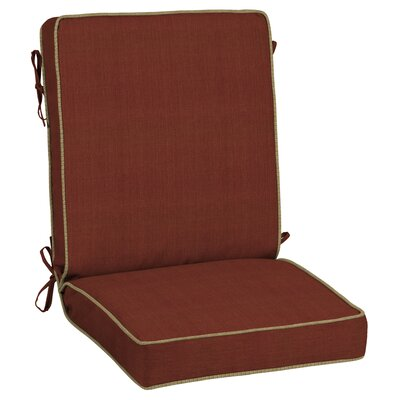 Pompas Pomegranate Snap Dry Outdoor Lounge Chair Cushion