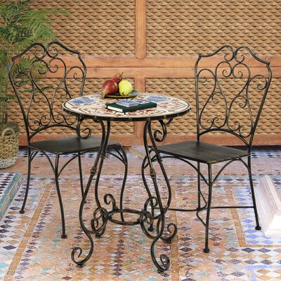 Lucienne 3 Piece Bistro Set