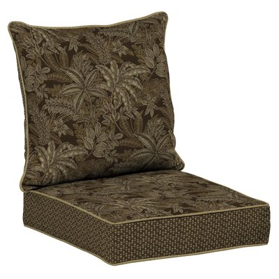 Valencia Snap Dry 4 Piece Deep Seating Group with Cushion Fabric: Palmetto Espresso