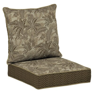 Palmetto Outdoor Dining Chair Cushion Fabric: Mocha