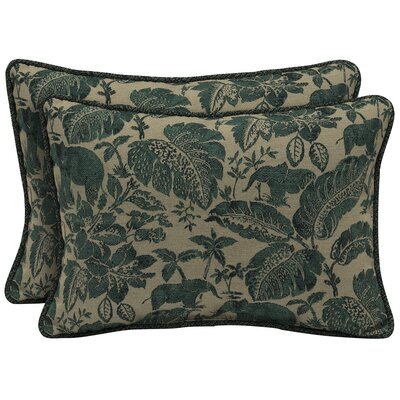 Casablanca Elephant Outdoor Lumbar Pillow (Set of 2)