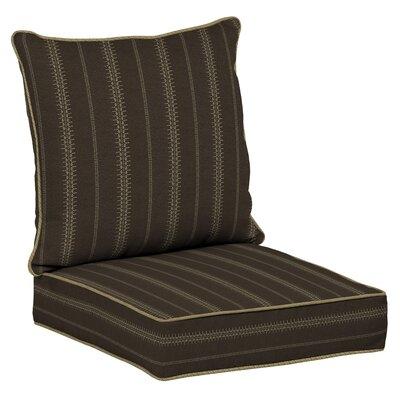 Trevor Stripe 2 Piece Outdoor Dining Chair Cushion Set