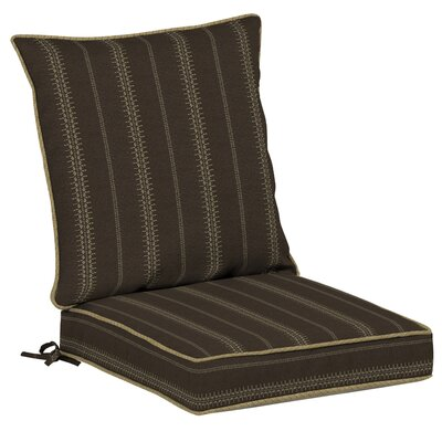 Trevor Stripe 2 Piece Outdoor Dining Chair Cushion Set