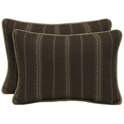 Trevor Stripe Outdoor Lumbar Pillow (Set of 2) Size: 15 H x 22 W x 6 D