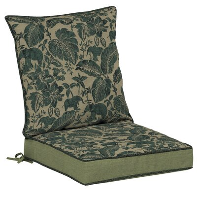 Casablanca Elephant 2 Piece Outdoor Dining Chair Cushion Set