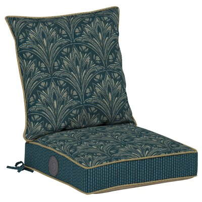 Royal Zanzibar 2 Piece Outdoor Dining Chair Cushion Set