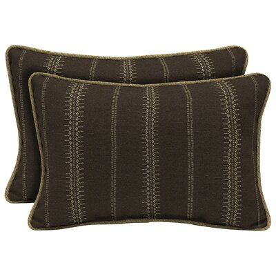 Trevor Stripe Outdoor Lumbar Pillow (Set of 2) Size: 13 H�x�20 W�x�5 D