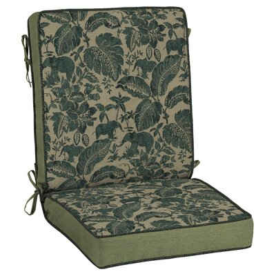 Casablanca Elephant 2 Piece Outdoor Dining Chair Cushion Set