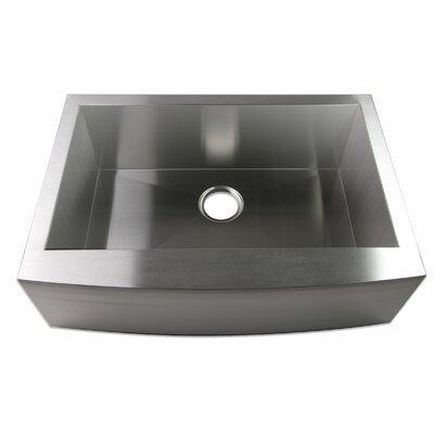 30 x 21 Farmhouse Apron Single Bowl Stainless Steel Handmade Zero Radius Kitchen Sink