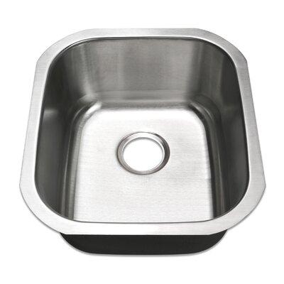 16.5 x 18.5 Undermount Single Bowl Stainless Steel Bar/Prep Kitchen Sink