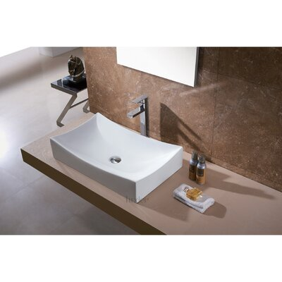 L-001 Bathroom Ceramic Rectangular Vessel Bathroom Sink