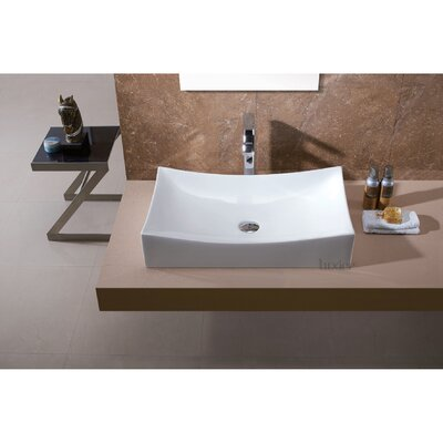 L-001 Bathroom Porcelain Ceramic Rectangular Vessel Bathroom Sink