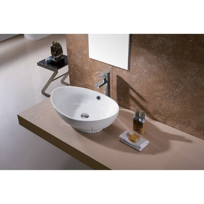 L-004 Bathroom Egg Porcelain Ceramic Oval Vessel Bathroom Sink with Overflow