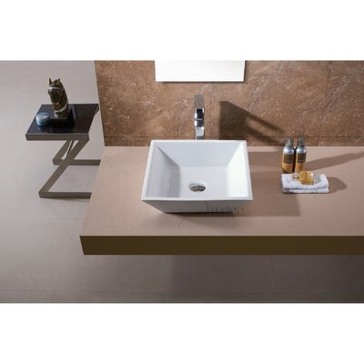 L-006 Bathroom Porcelain Ceramic Square Vessel Bathroom Sink