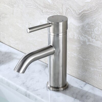 Vessel Faucet Single Faucet Finish: Brushed Nickel