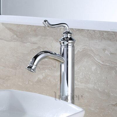 Hole Lavatory Vanity Vessel Sink Single Handle Standard Bathroom Faucet Finish: Chrome