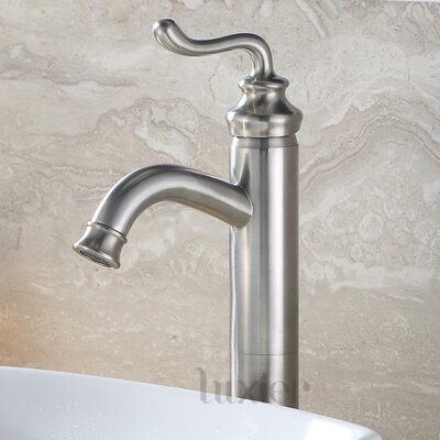 Hole Lavatory Vanity Vessel Sink Single Handle Standard Bathroom Faucet Finish: Brushed Nickel