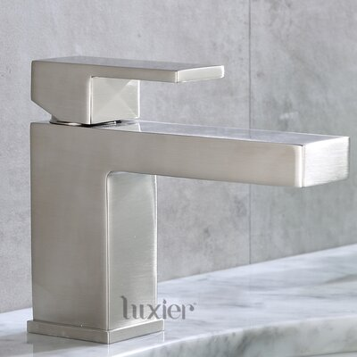 Hole Vanity Sink Lavatory Single Handle Standard Bathroom Faucet Finish: Brushed Nickel