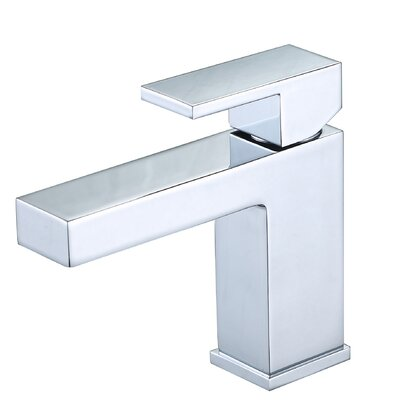 Hole Vanity Sink Lavatory Single Handle Standard Bathroom Faucet Finish: Chrome