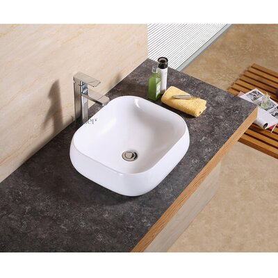 Vanity Art Basin Rectangular Vessel Bathroom Sink