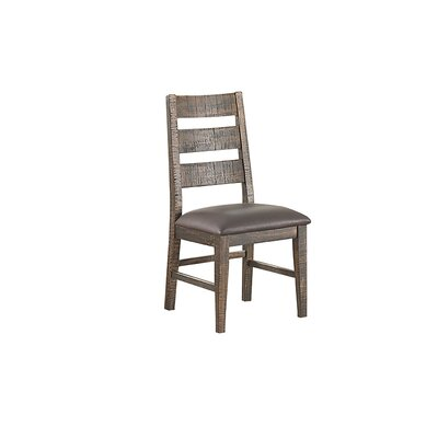 Glenwood Pines Genuine Leather Upholstered Dining Chair