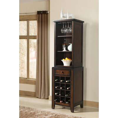 Tuscan Hills 12 Bottle Floor Wine Cabinet