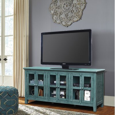 Geers Antique 70 TV Stand Color: Teal
