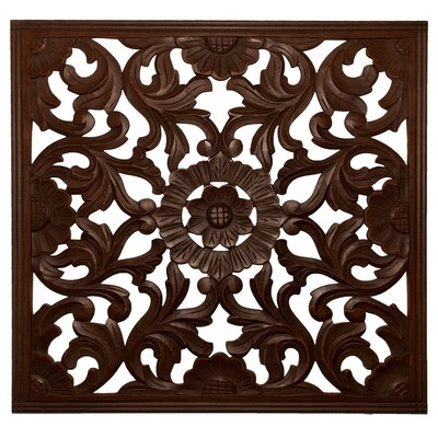 Square Handcrafted Medallion Wall Décor Color: Espresso