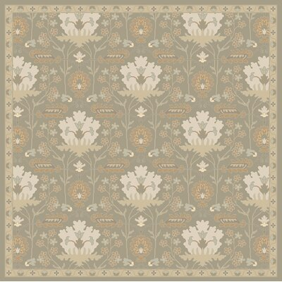 Kempinski Hand-Tufted Gray Area Rug Rug Size: Square 4