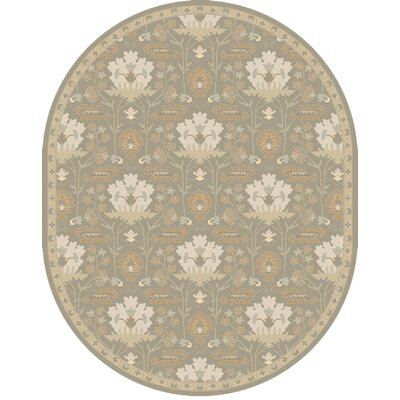 Kempinski Hand-Tufted Gray Area Rug Rug Size: Oval 8 x 10
