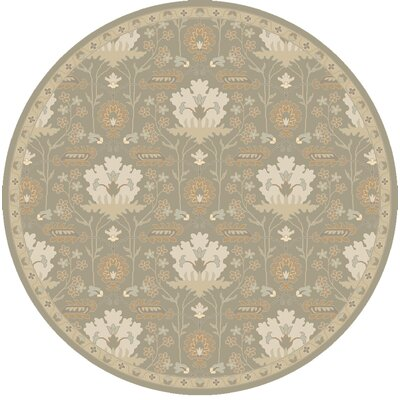 Kempinski Hand-Tufted Gray Area Rug Rug Size: Round 8