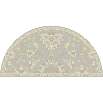 Kempinski Hand-Tufted Gray/Beige Area Rug Rug Size: Wedge 2 x 4