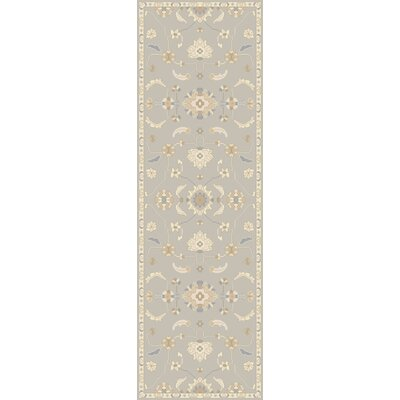 Kempinski Hand-Tufted Gray/Beige Area Rug Rug Size: Runner 26 x 8