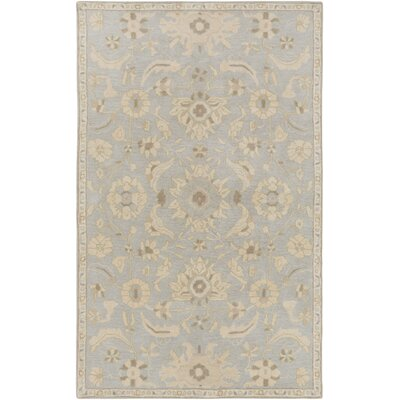 Kempinski Hand-Tufted Gray/Beige Area Rug Rug Size: 5 x 8