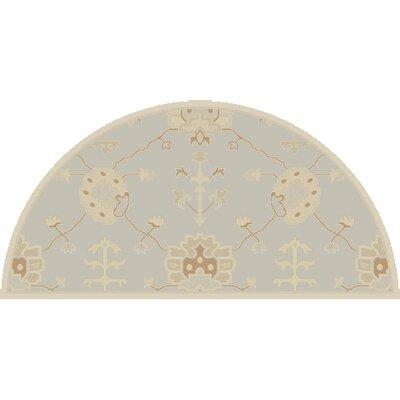 Kempinski Hand-Tufted Gray Area Rug Rug Size: Wedge 2 x 4