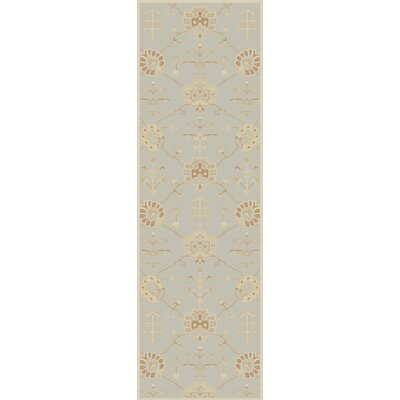 Kempinski Hand-Tufted Gray Area Rug Rug Size: Runner 2'6