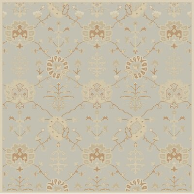 Kempinski Hand-Tufted Gray Area Rug Rug Size: Square 6