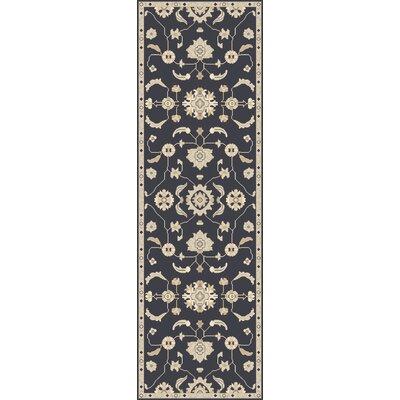 Kempinski Handmade Wool Black/Beige Area Rug Rug Size: Runner 26 x 8